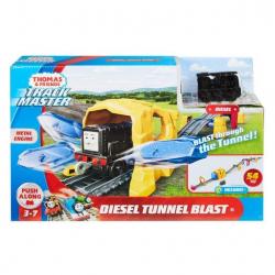 Fisher Price diesel a výbuch tunelu herní set