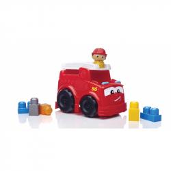 Fisher-Price. Mega Bloks. Wóz strażacki z klockami, 6 elementów
