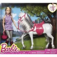 MATTEL BARBIE Lalka z koniem, LALKI Chudzielce