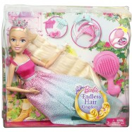 Barbie VYSOKÁ PRINCEZNA S DLOUHÝMI VLASY BLOND