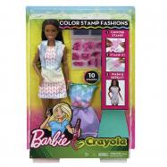 Barbie D.I.Y. CRAYOLA S MÓDNÍM POTISKEM ČERNOŠKA