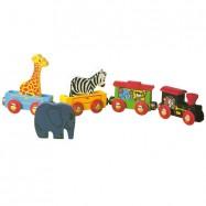 Drevené hračky - Drevený vláčik ZOO k vláčkodráze