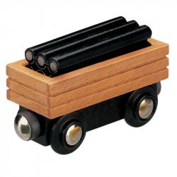 Vláček dřevěné vláčkodráhy Maxim Vagon s potrubím