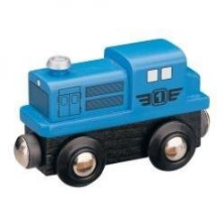 Lokomotywa z silnikiem Diesla - niebieska