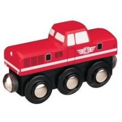 Vláčik vláčikodráhy Maxim Dieselová lokomotíva -červená