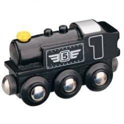 Vláček dřevěné vláčkodráhy Maxim Dieselová lokomotiva - černá
