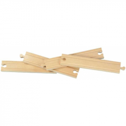 Dřevěné vláčkodráhy Maxim - 20 cm rovné koleje - 4ks