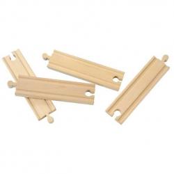 Dřevěné vláčkodráhy Maxim - 15cm rovné koleje - 4ks