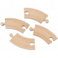 Dřevěné vláčkodráhy Maxim - Krátká kruhová kolej - 4ks