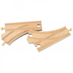Dřevěné vláčkodráhy Maxim - Standartní vyhybky - 2ks