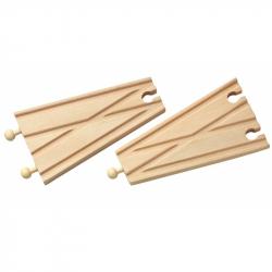 Dřevěné vláčkodráhy Maxim - Rovná výhybka - 2ks
