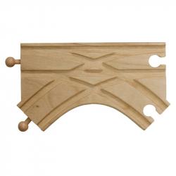 Dřevěné vláčkodráhy Maxim - K-výhybka 2 kusy
