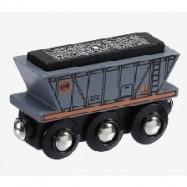 Vláček dřevěné vláčkodráhy Maxim Nákladní vagón - uhlí