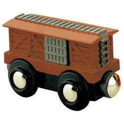 Vláček dřevěné vláčkodráhy Maxim Vagón dobytčák