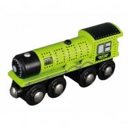 Vláček dřevěné vláčkodráhy Maxim Parní lokomotiva - zelená