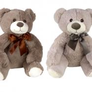 Plyšový medvěd s mašlí 30 cm