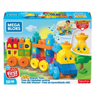 Mega Bloks hudobný vláčik s písmenkami