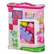 Kocky v plastovom vreci - ružová farba, 60 dielov