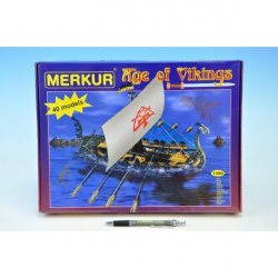 Stavebnica MERKUR Age of Vikings 40 modelov 1350ks v krabici 36x27x5,5cm