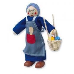 Drevené hračky - Bábika do domčeka babička