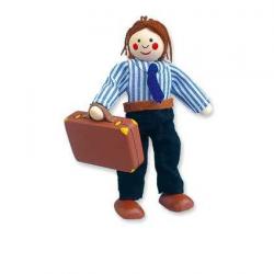 Drevené hračky - Bábika do domčeka otecko