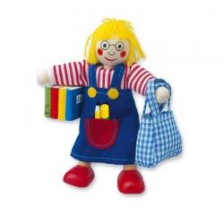 Drevené hračky - Bábika do domčeka školáčka