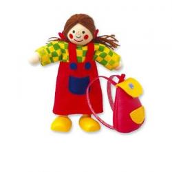 Drevené hračky - Bábika do domčeka dievčatko