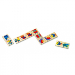 Drevené hračky - drevené hry - Domino - zvieratká
