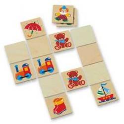 Dřevěné hračky - dřevěné hry - Obrázkové pexeso