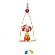 Dřevěné hračky na pružině - Klaun na houpačce