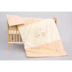 Komplet poszewek na pościel do łóżeczka Księżyc - cappuccino