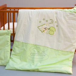Komplet poszewek na pościel do łóżeczka Księżyc - zielony