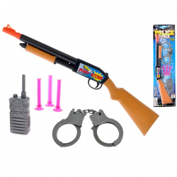 Policejní set 48cm puška + pouta s doplňky na kartě