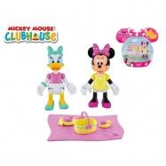 Minnie a Daisy figurky kloubové 8cm 2ks s piknikovými doplňky v krabičce
