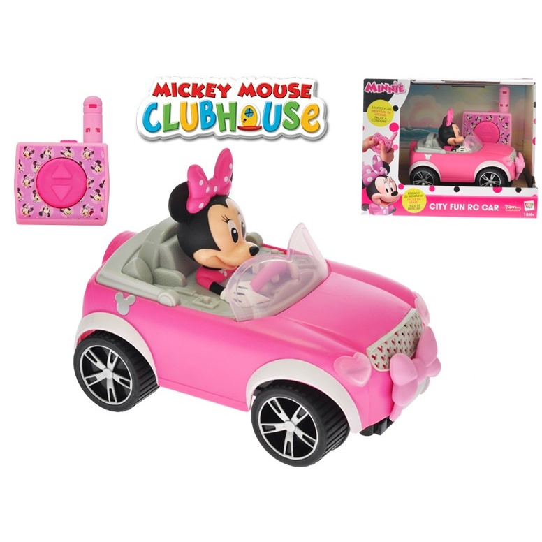 Minnie R/C cabriolet 17cm 2,4GHz na baterie 18m+ v krabičce