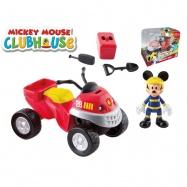 Mickey Mouse záchranářská čtyřkolka 10cm s kloubovou figurkou 8cm a doplňky v krabičce