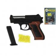 Pistole na kuličky 11cm s kuličkami na kartě