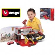 Bburago 1:43 Ferrari Race & Play Auto Service Centre + auto v krabičce