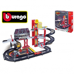 Bburago 1:43 Ferrari Race & Play Racing Garage + auto v krabičce