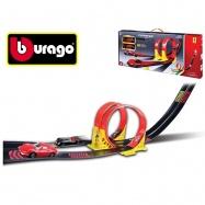 Bburago Ferrari Race & Play Dual Loop + Ferrari 1:43 v krabičce