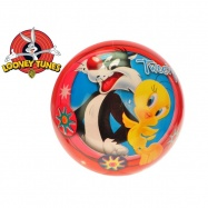 Looney Tunes míč 23cm - Tweety a Sylvester 10m+ v síťce