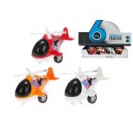 Helikoptéra kov 10cm zpětný chod na baterie se světlem a zvukem 3barvy