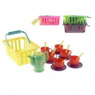 Čajový set v košíku 4barvy v síťce