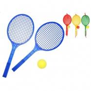 Soft tenis set - 2ks tenisové rakety + 1ks míček 4barvy v síťce