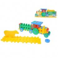 Kostky konstrukt traktor 38cm + zvířátko na kartě