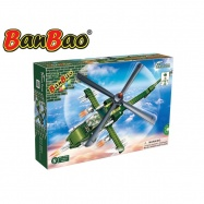 BanBao stavebnice Defence Force bitevní vrtulník 231ks + 1 figurka ToBees v krabičce