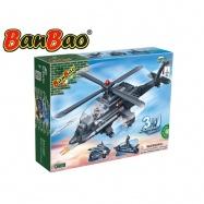 BanBao stavebnice Defence Force vrtulník, loď, raketomet 3v1 295ks + 2 figurky ToBees v krabičce