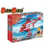 BanBao stavebnice Fire hasičský vrtulník 272ks + 3 figurky ToBees v krabičce