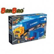 BanBao stavebnice Transportation tahač 562 ks + 2 figurky ToBees