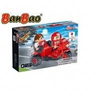 BanBao stavebnice Transportation motocykl se sajdkárou 46ks + 2 figurky ToBees v krabičce